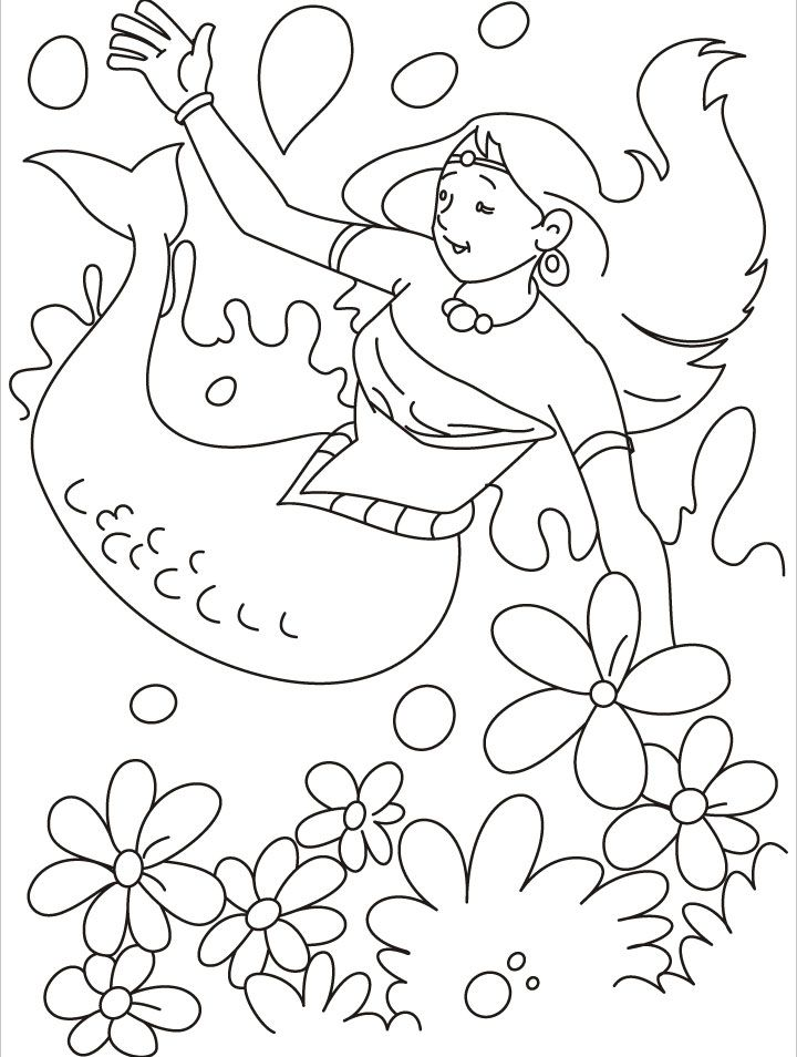 Mermaid Coloring Pages Pdf : Happy disney mermaid coloring pages for kids best