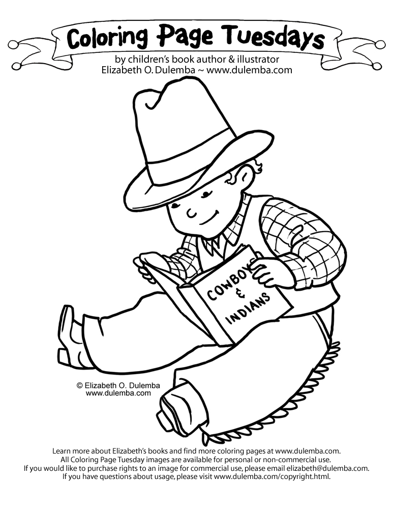 dulemba: Coloring Page Tuesday - Cowboy Reader