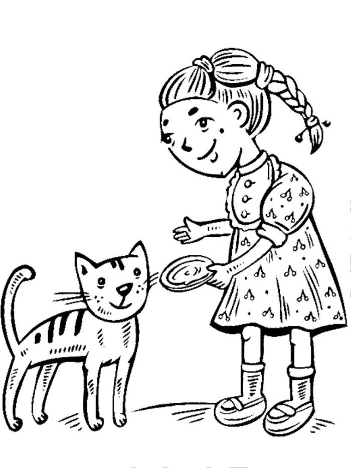 Feeding Dog Coloring Page - Animal Coloring Pages on iColoringPages.