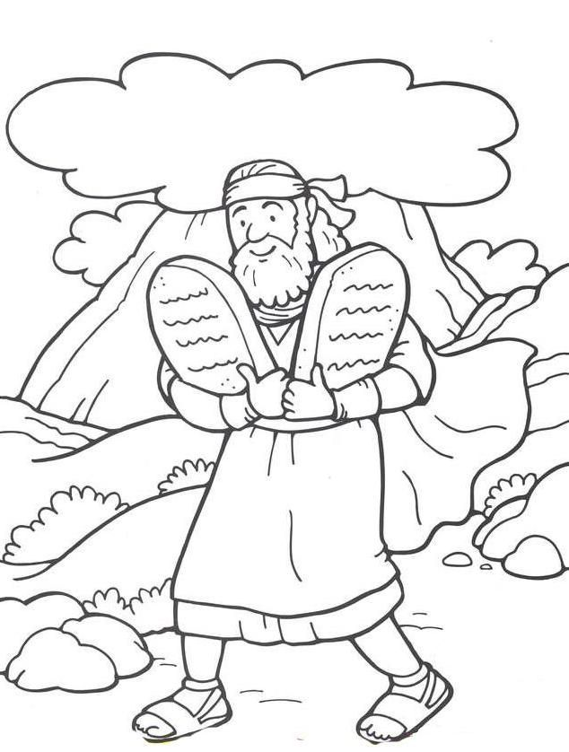 coloring pages ten commandments - photo#1