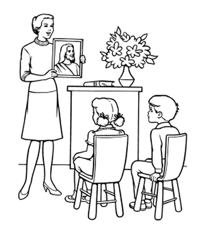 Teacher Coloring Pages For Kids - Coloring Home