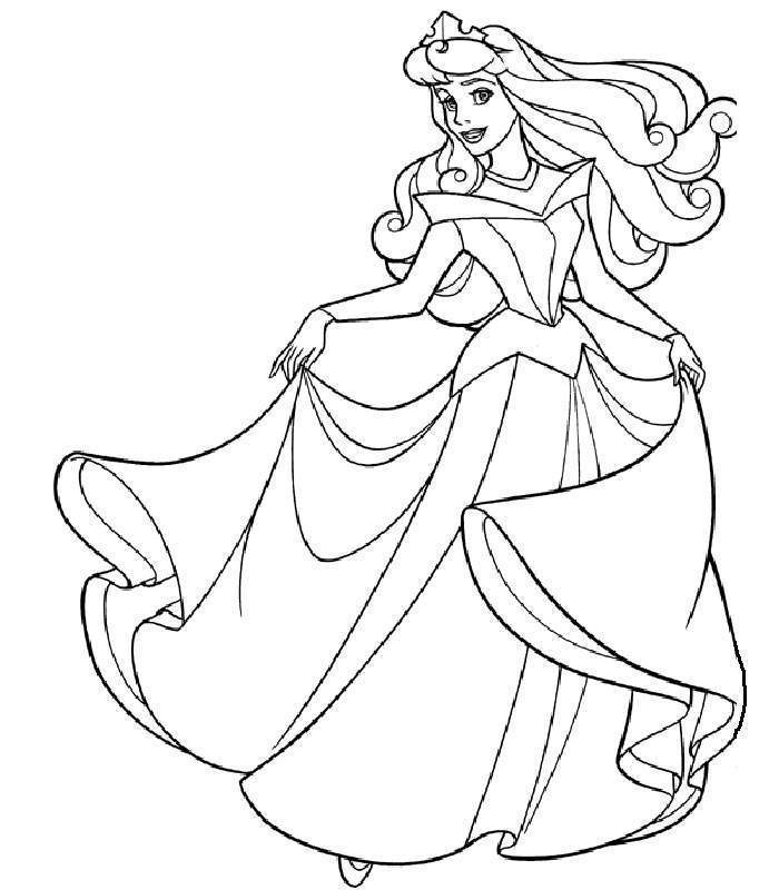 Disney Princess Coloring Pages Sleeping