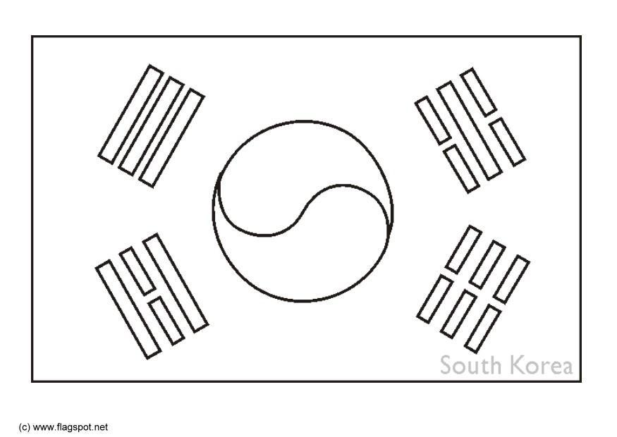 Korean Flag Coloring Page Coloring