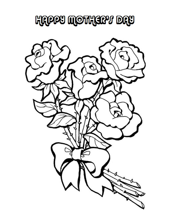 Mothers Day Flowers Coloring Pages - AZ Coloring Pages