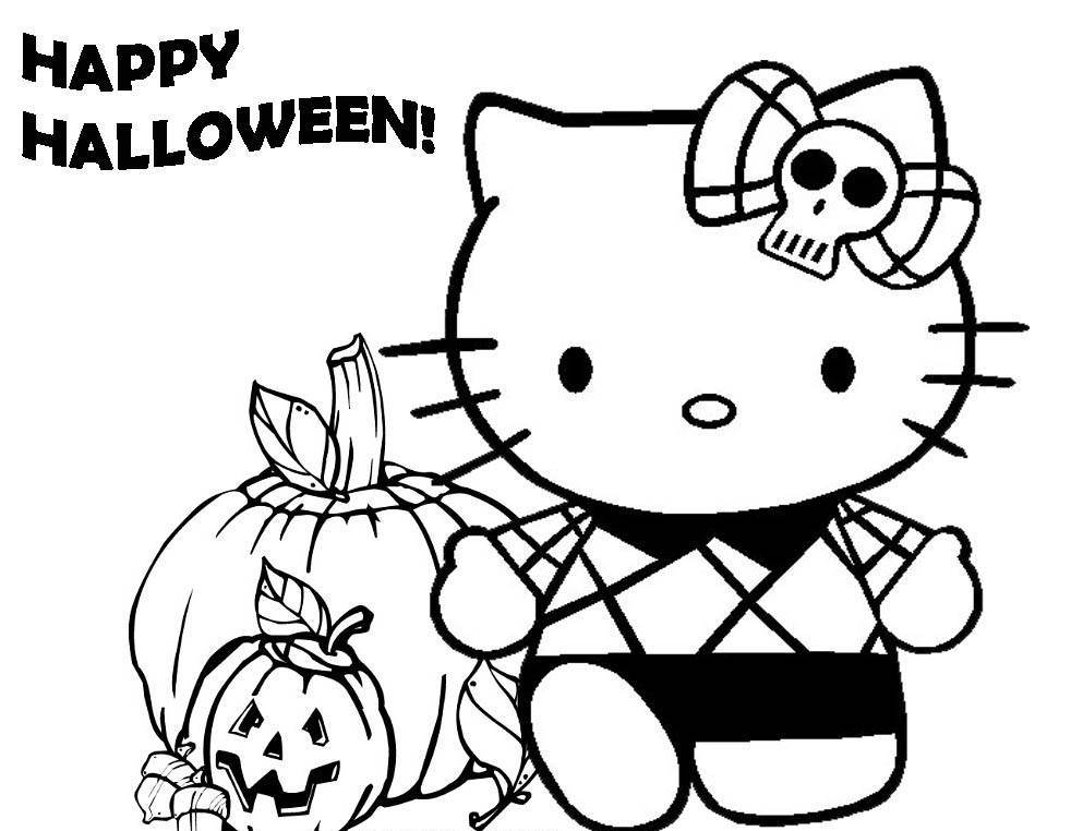 Happy Halloween Coloring Pages - Cartoon Coloring Pages of The