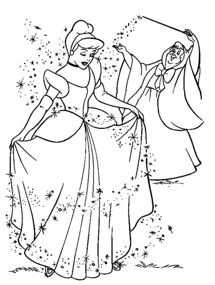 - Cinderella Coloring Home Pages Coloring Disney
