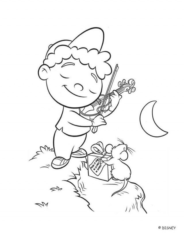 Quincy Plays The Violin Little Einstein Coloring Pages 98746