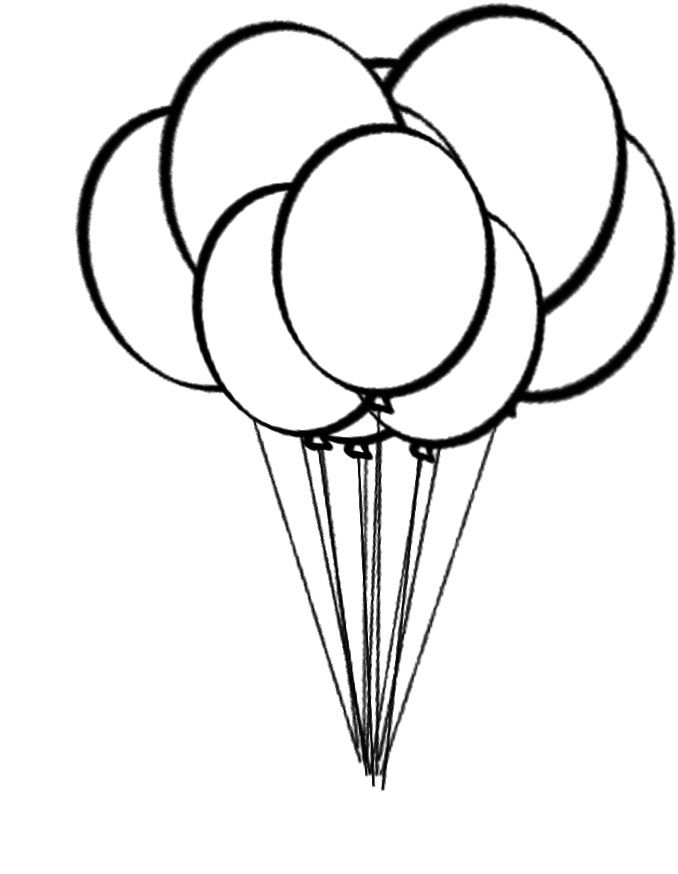 Free Printable Balloons Coloring Home