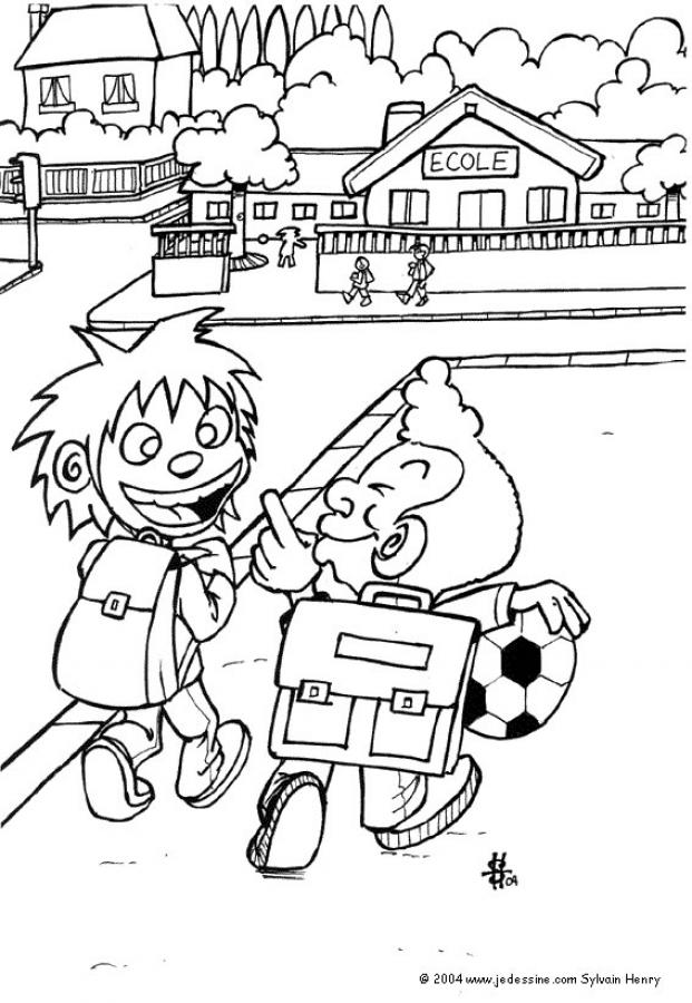 School Supplies Coloring Page - Coloring Home