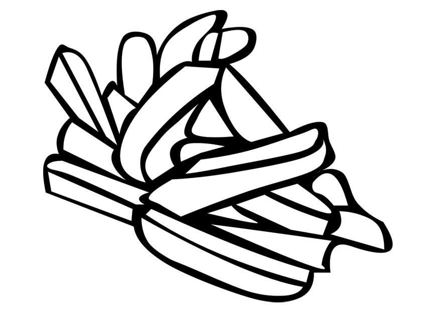 French Fries Coloring Page  Coloring Home