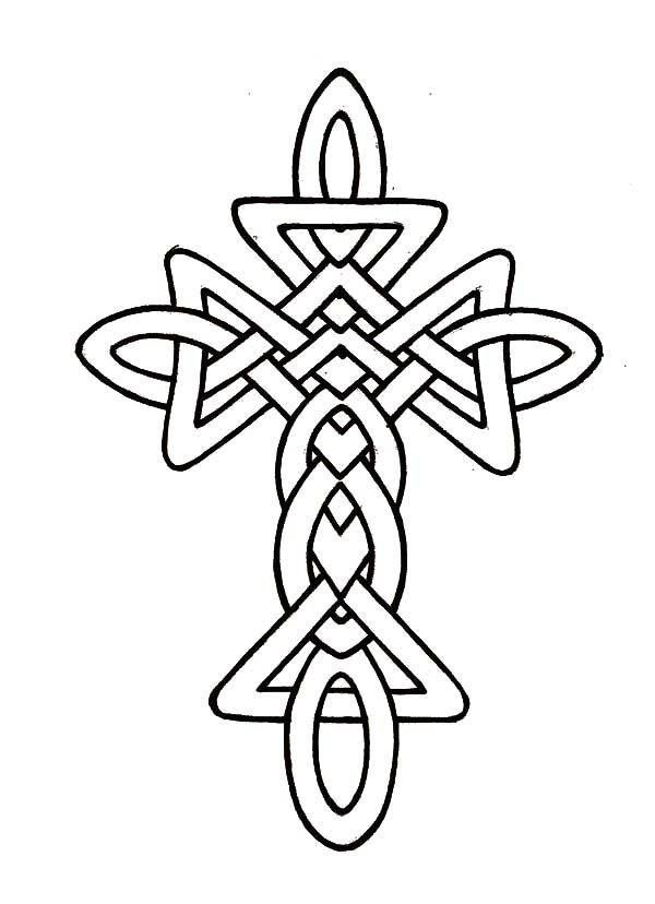 free coloring pages celtic cross - photo#4