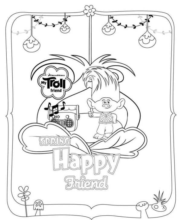 Trolls Movie Coloring Page
