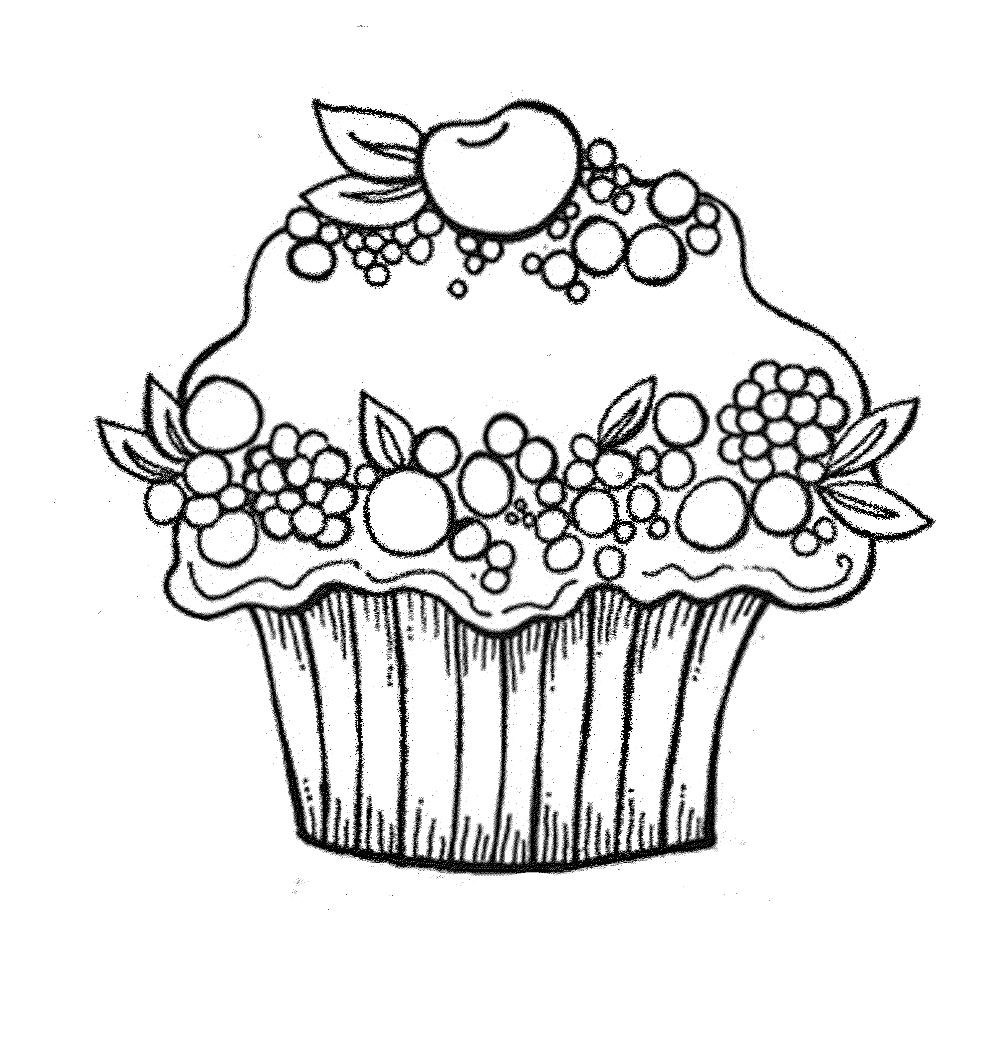 christmas cupcake coloring pages - photo#6