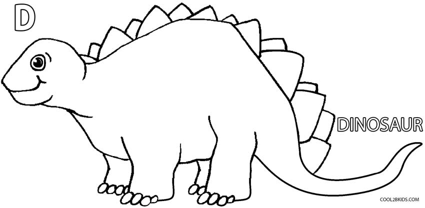 Dinosaur Coloring Pages For Kindergarten : Cute dinosaur coloring pages home