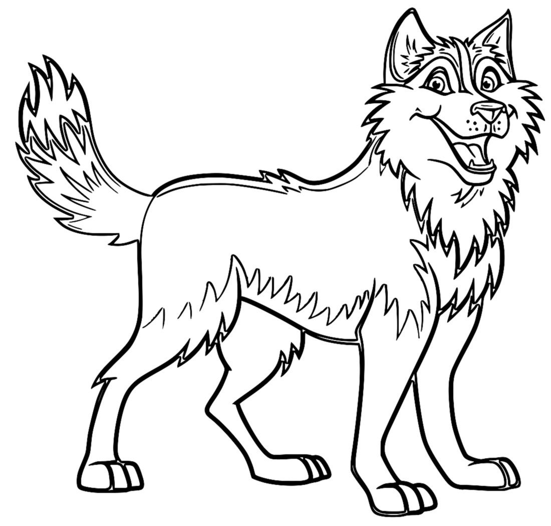 Husky Coloring Pages Siberian Husky Coloring Pages. Kids Coloring ...