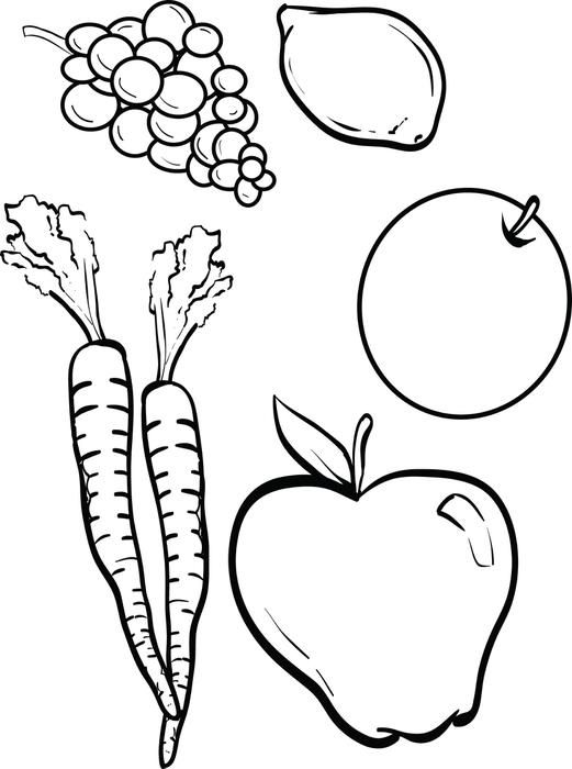 Food amp Nutrition Coloring Pages