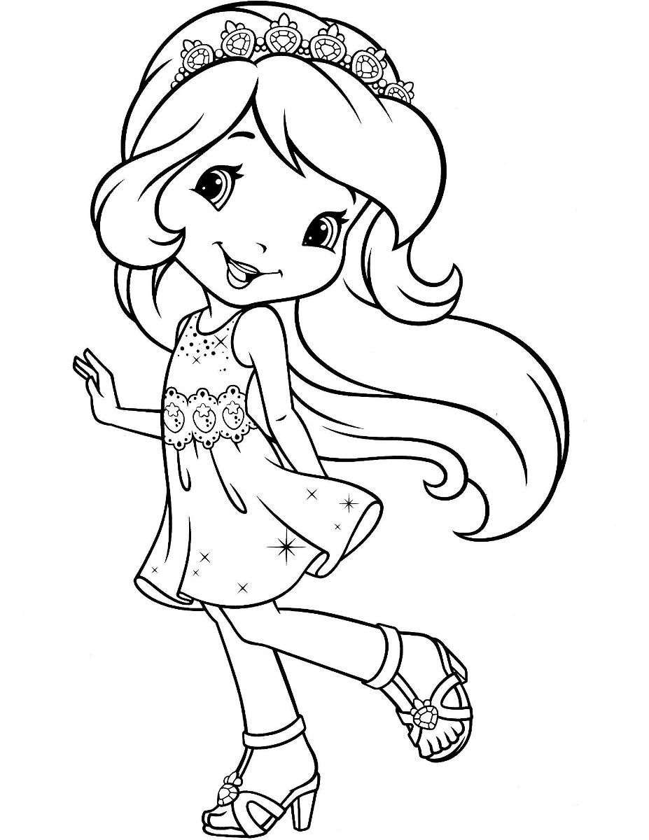 Strawberry Shortcake And Friends Coloring Pages ...