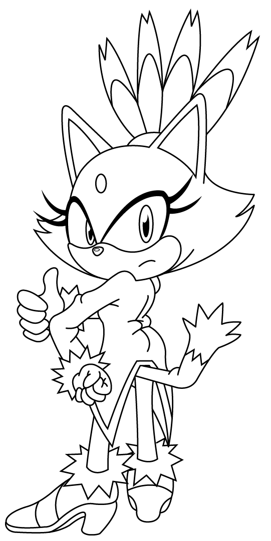 Blaze The Cat Coloring Pages - AZ Coloring Pages