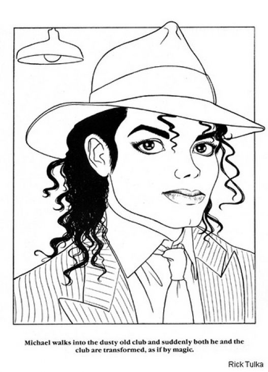 Michael Jackson Coloring Book Coloring Home Michael Coloring Page
