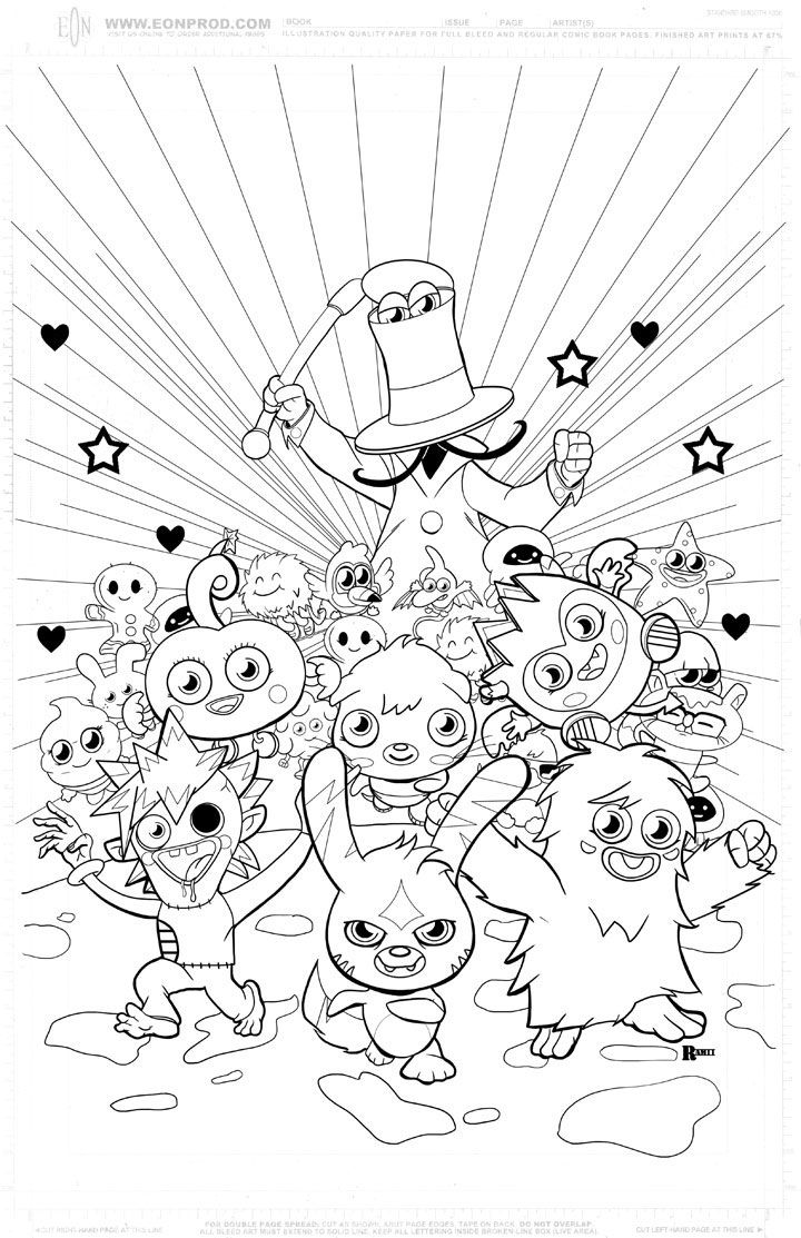 Moshi monsters coloring pages to print coloring home for Moshi monsters coloring pages katsuma