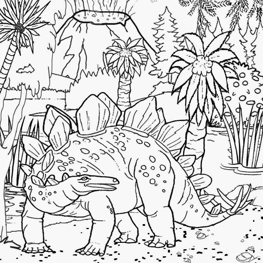 Free coloring pages for dinosaurs - Free Coloring Pages Volcanoes Volcano To Print