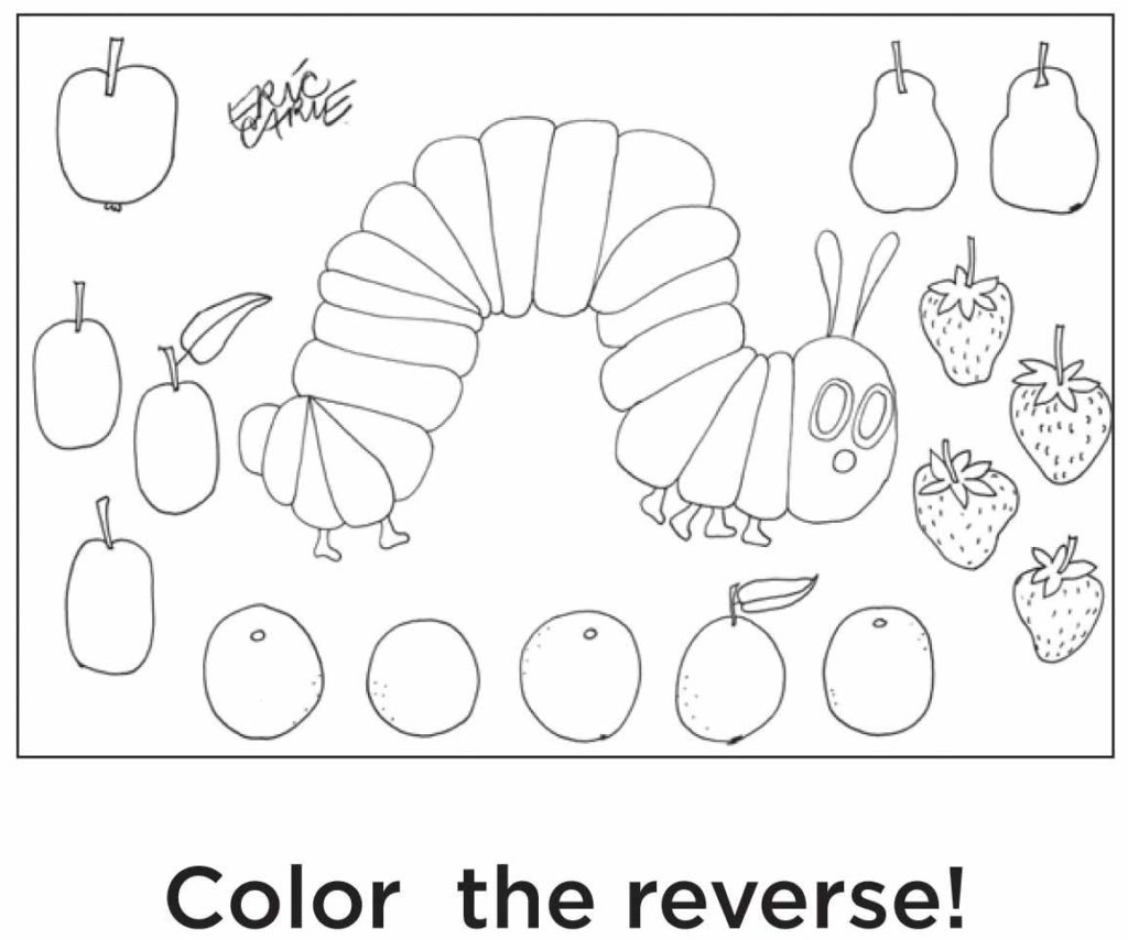 Coloring Very Hungry Caterpillar Coloring Pages Coloring Home