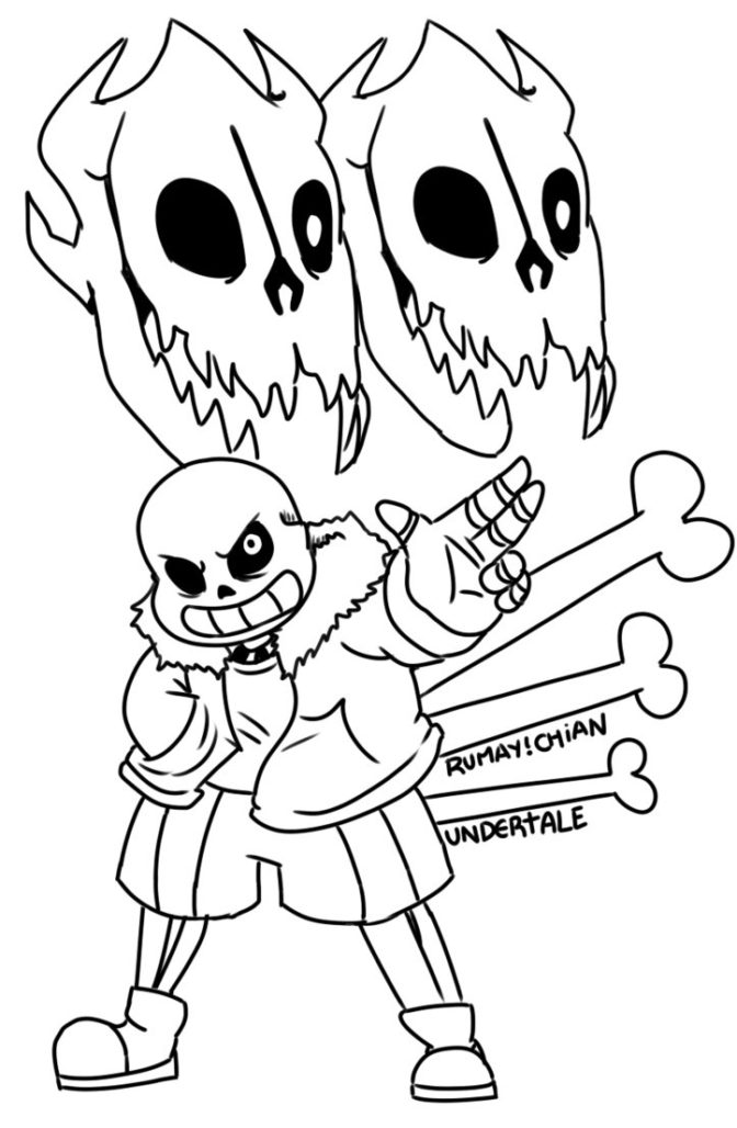 Undertale Coloring Pages - Coloring Home