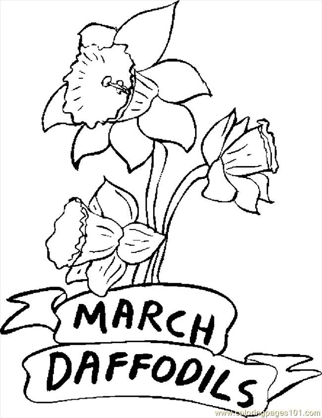 free coloring pages for march - photo#15