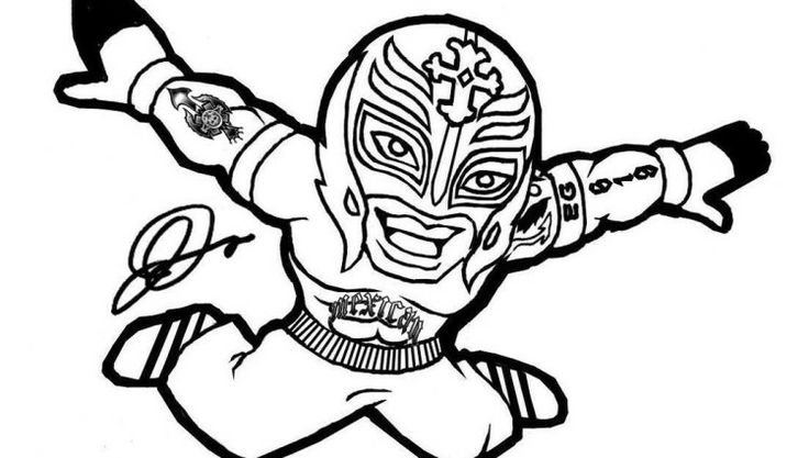 Wwe Coloring Pages Miakenasnet
