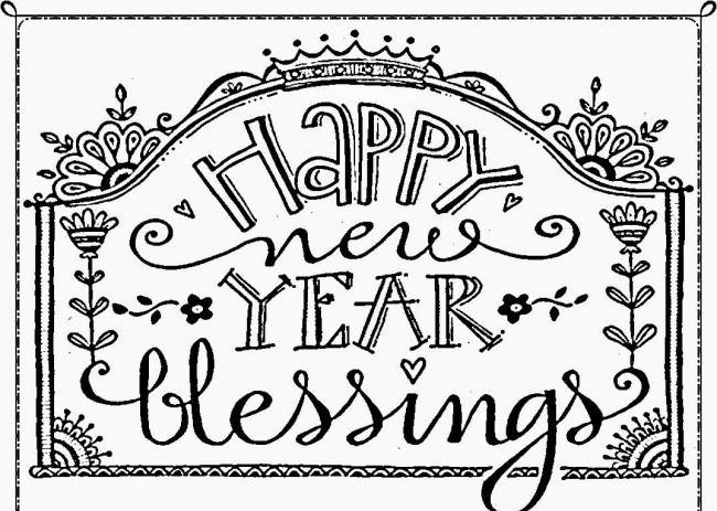 Happy New Year Coloring Pages 2020 Sheets Free Printable For