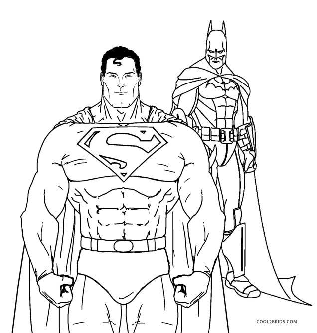 Batman Vs Superman Coloring Pages - Coloring Home