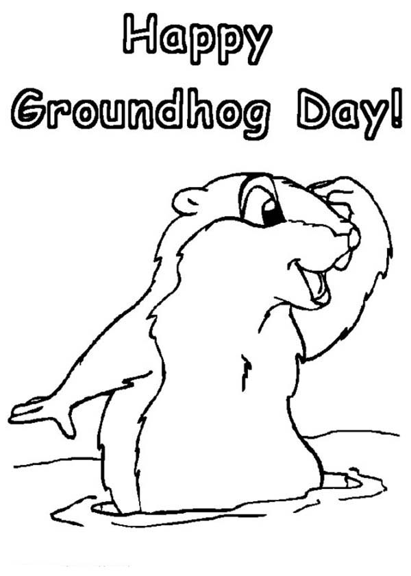 Groundhog Coloring Sheets - Printable Coloring Pages