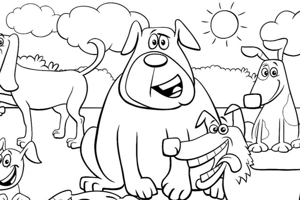Dog Coloring Pages: Printable Coloring Pages of Dogs for Dog Lovers of All  Ages | Printables | 30Seconds Mom