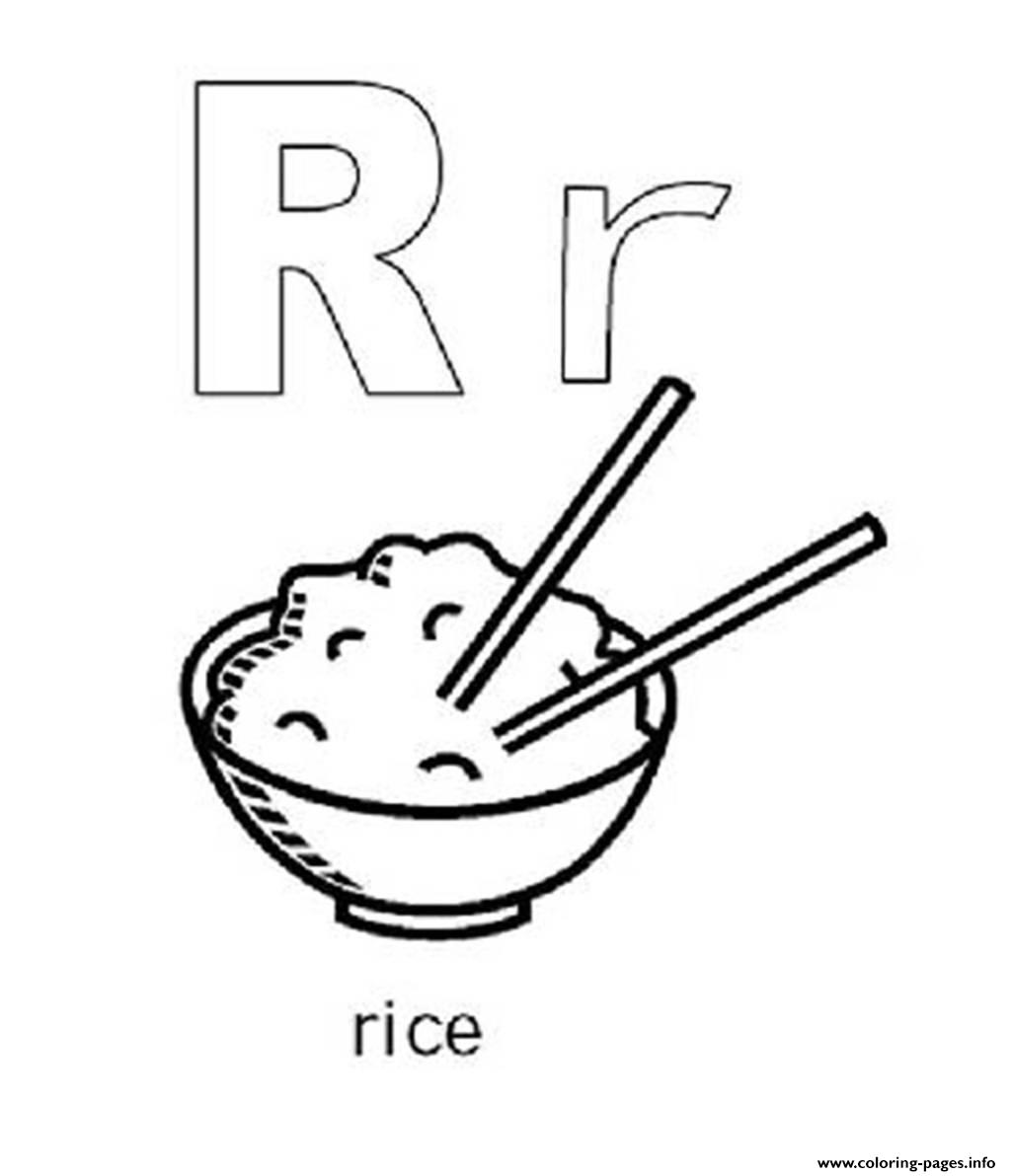 Rice Free Alphabet S4eea Coloring Pages Printable