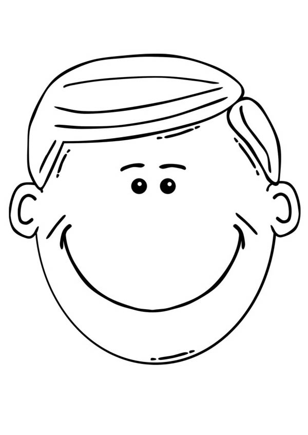 Cute Smile Face Coloring Page : Coloring Sun