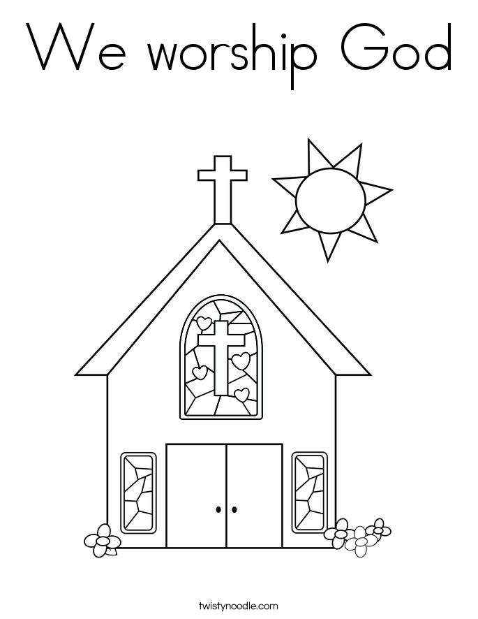 People worshipping god coloring pages