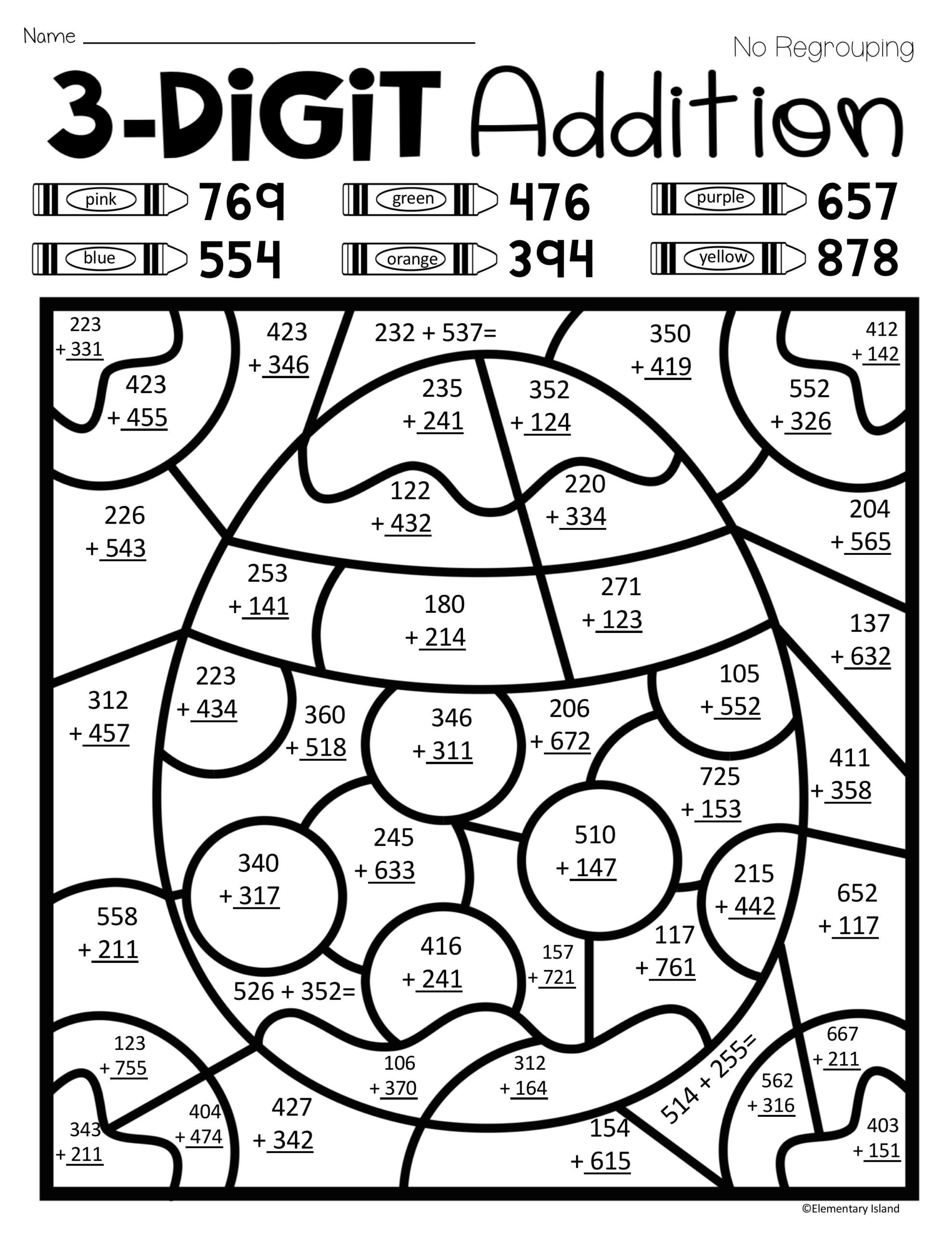 53 Free Color By Number Math Worksheets Photo Ideas –  Samsfriedchickenanddonuts