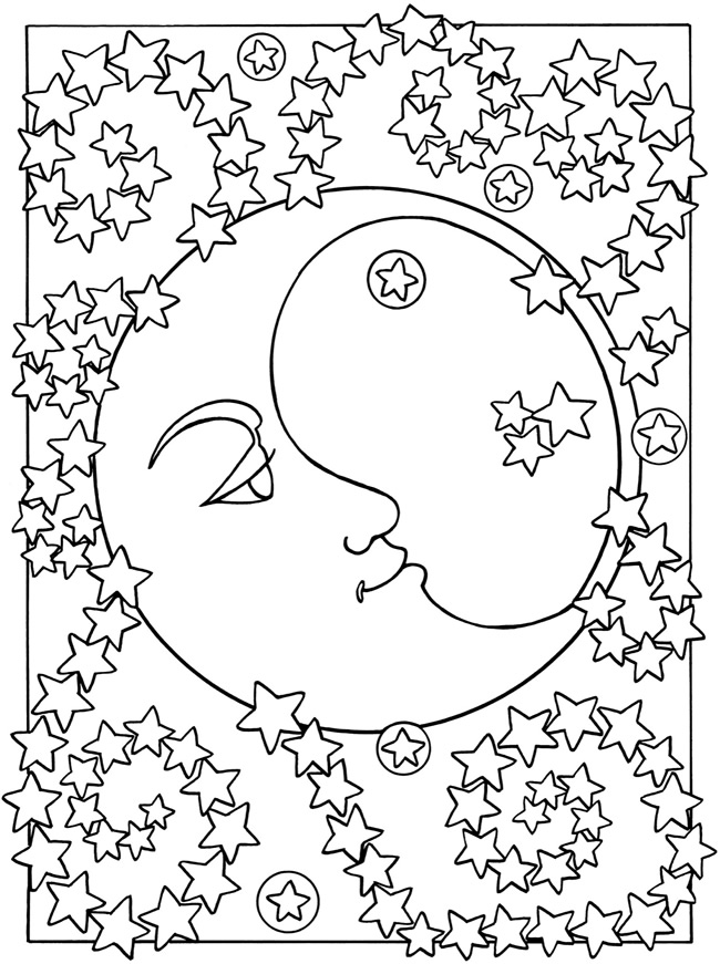 Free Printable Moon Coloring Pages for Kids - Best Coloring Pages ...
