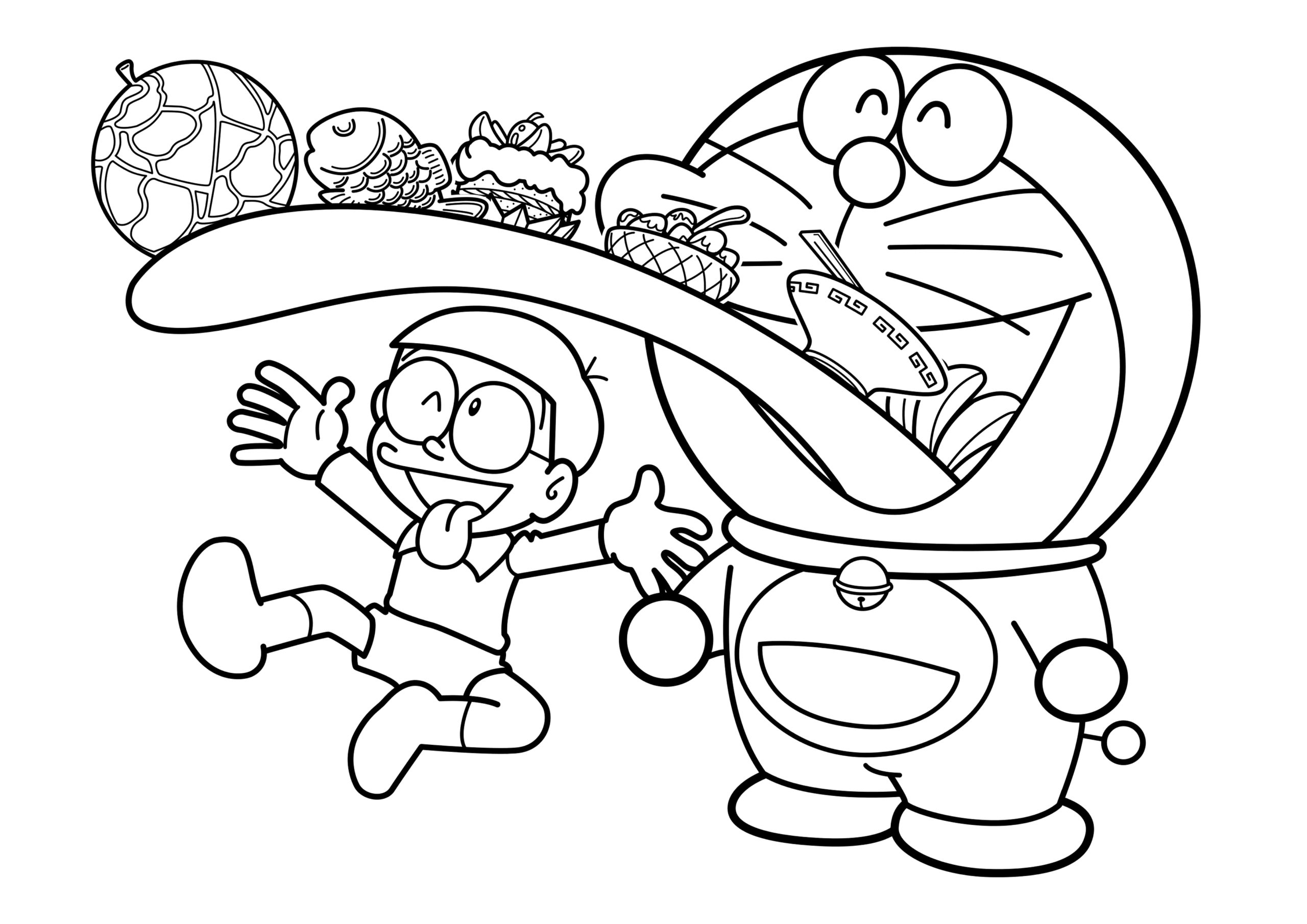 Nobita Coloring Pages - Coloring Home