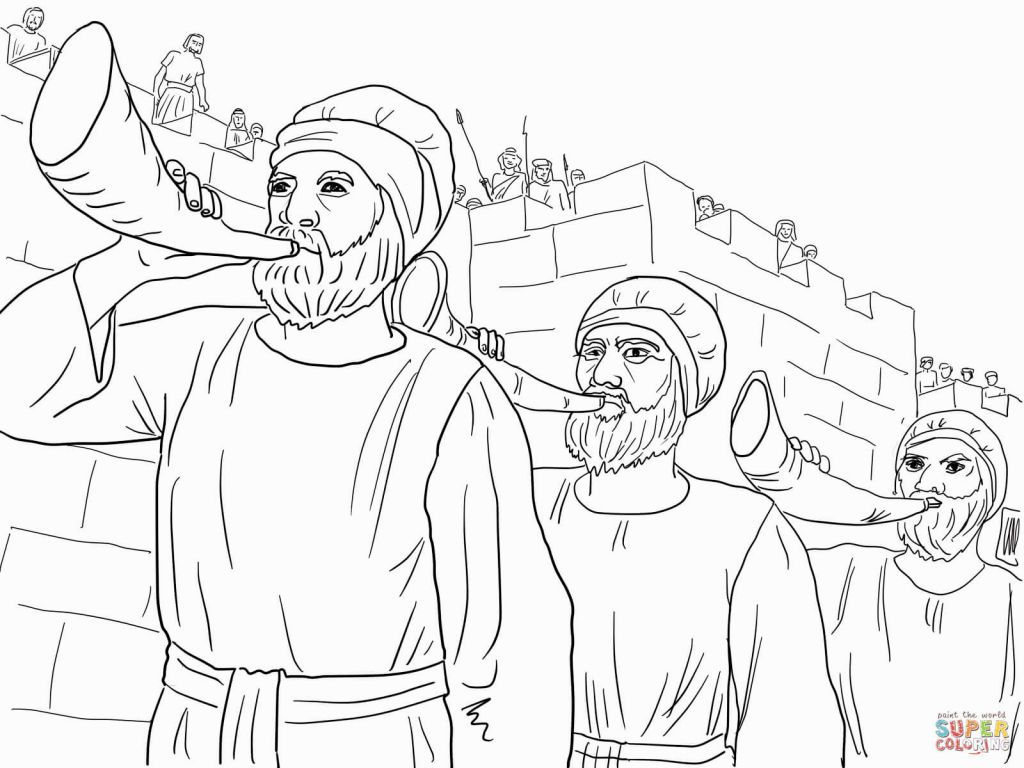 jericho coloring page - coloring pages battle of jericho coloring home