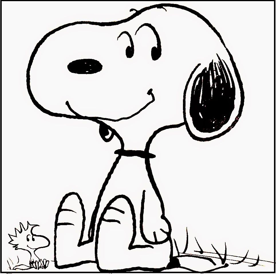 Snoopy And Woodstock Smiling Coloring Pages For Kids #fx2 ...