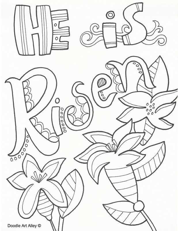 He Is Risen Coloring Pages