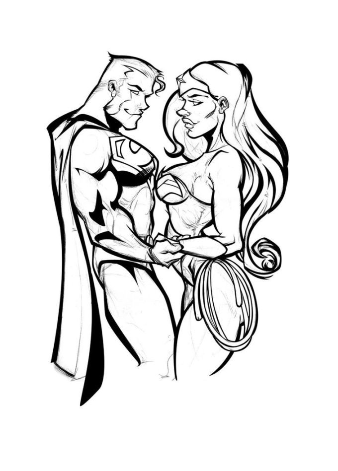 Super Woman Coloring Pages Coloring Home
