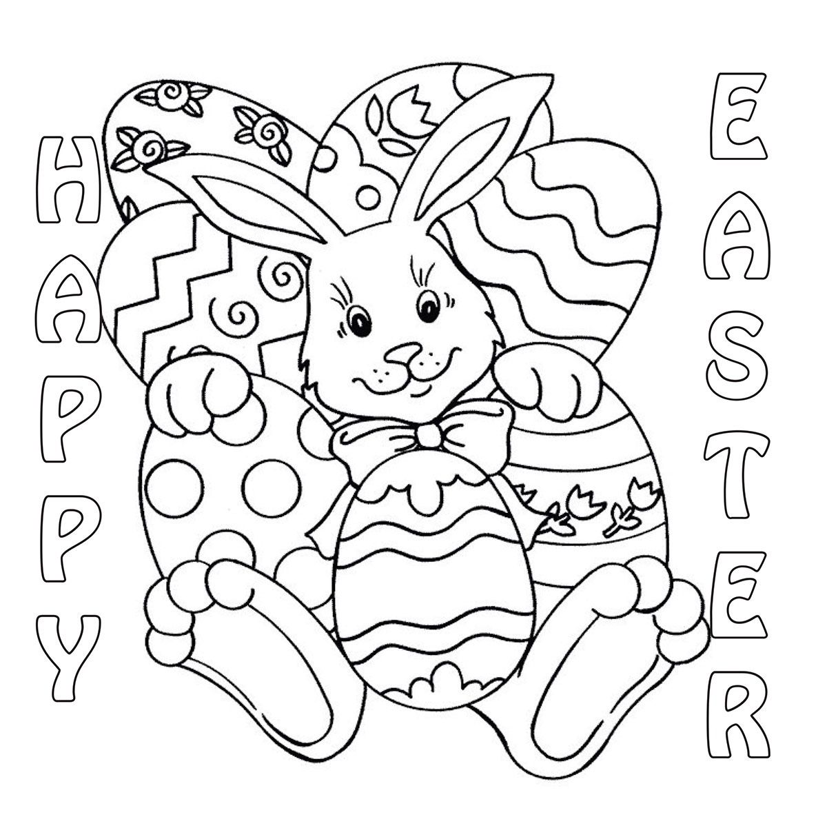 Easter Coloring Eggs Ideas Easter Coloring Easter Coloring Pages ...