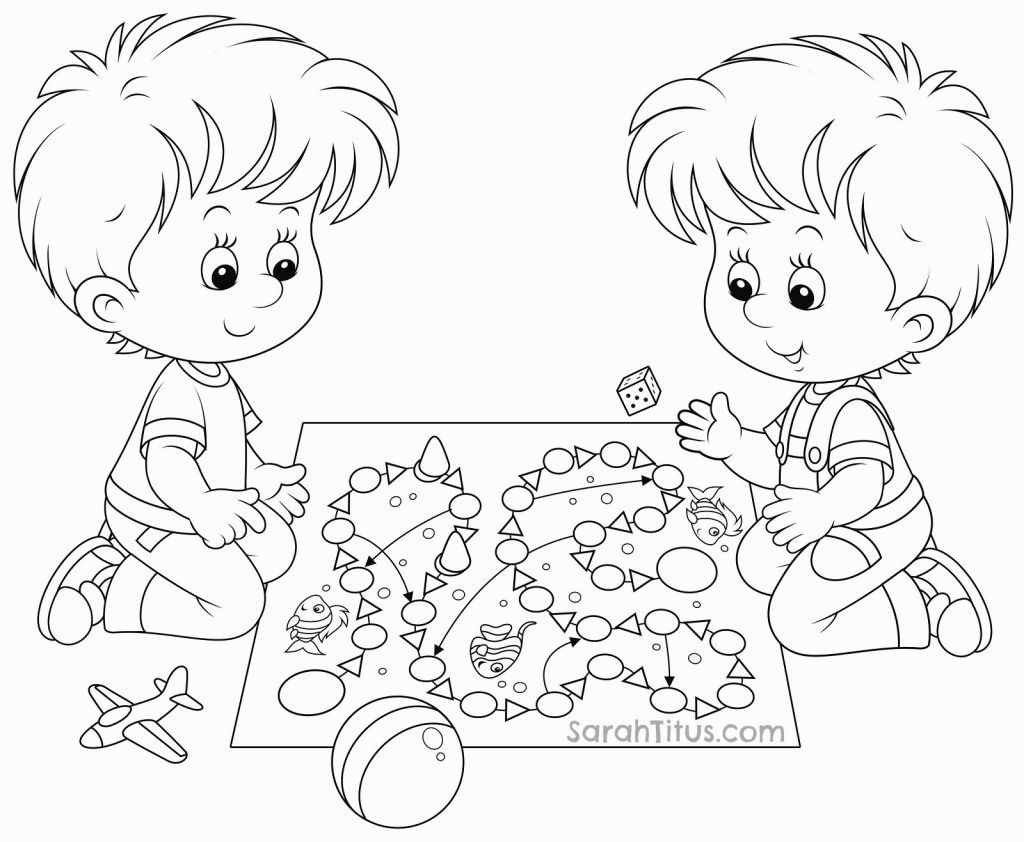 Adult Best Kids Playing Coloring Pages Images cute children playing coloring page jamesenye pages for kids and printable images