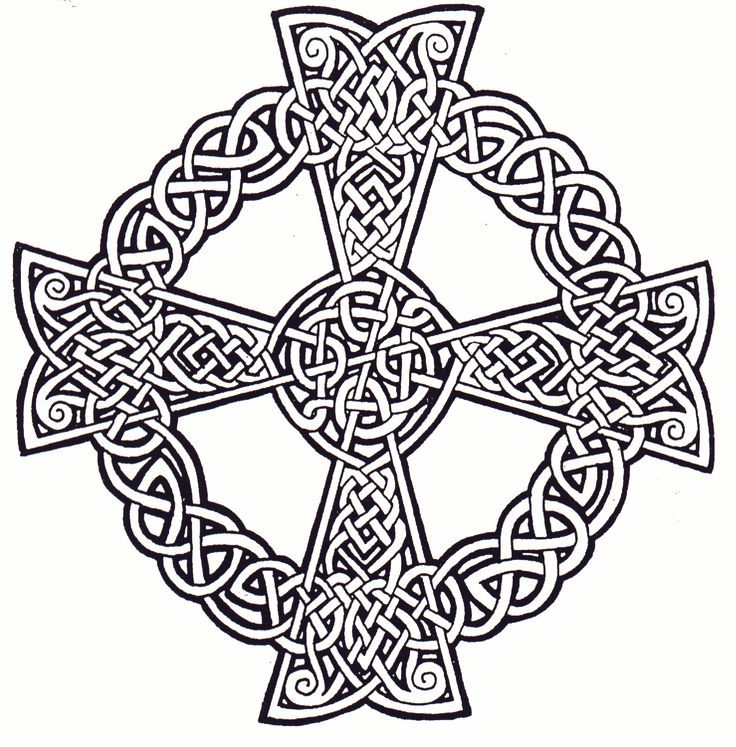 Printable Celtic Cross - Coloring Pages For Kids And For ...