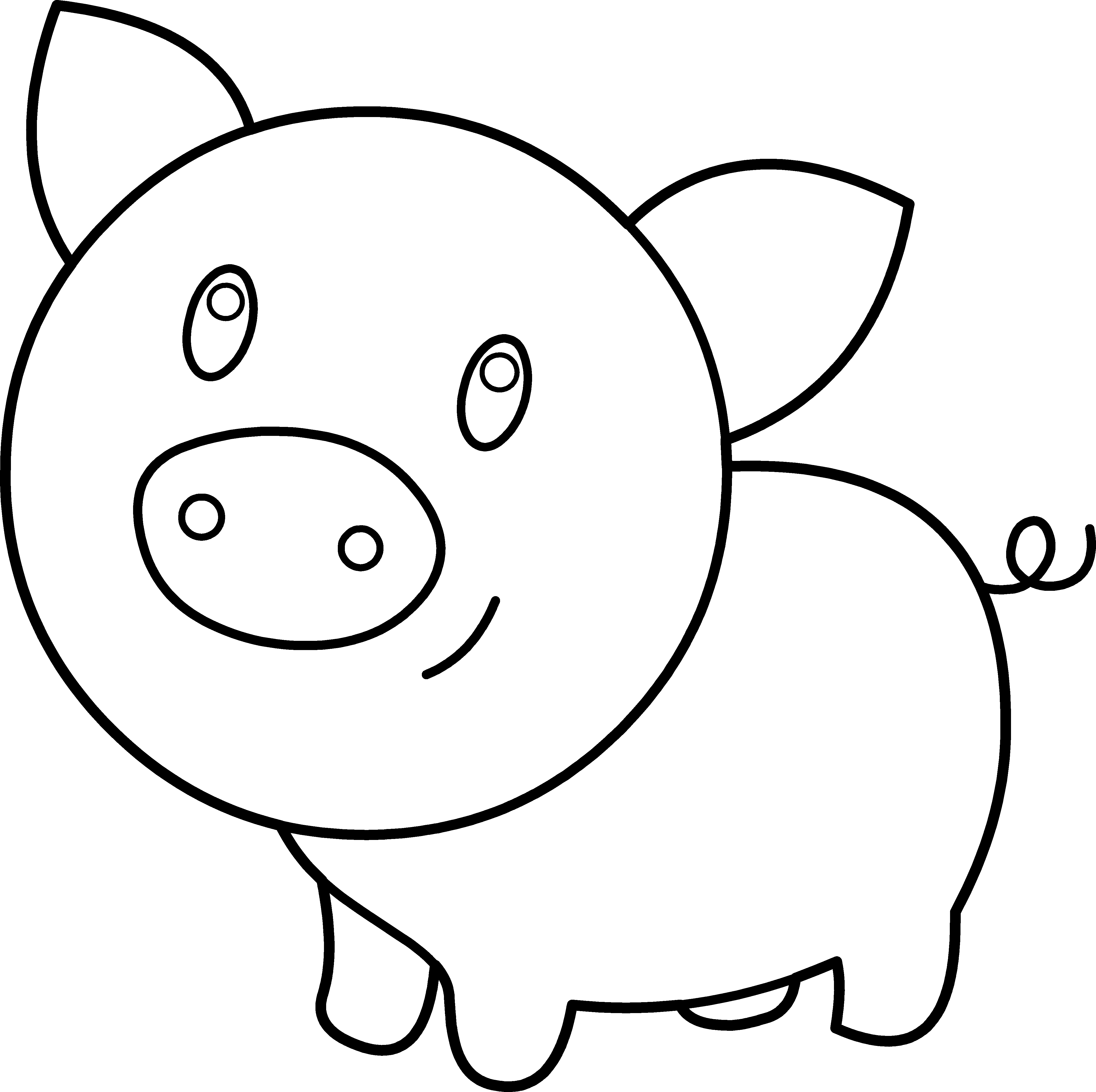 Cute pig coloring page - a-k-b.info