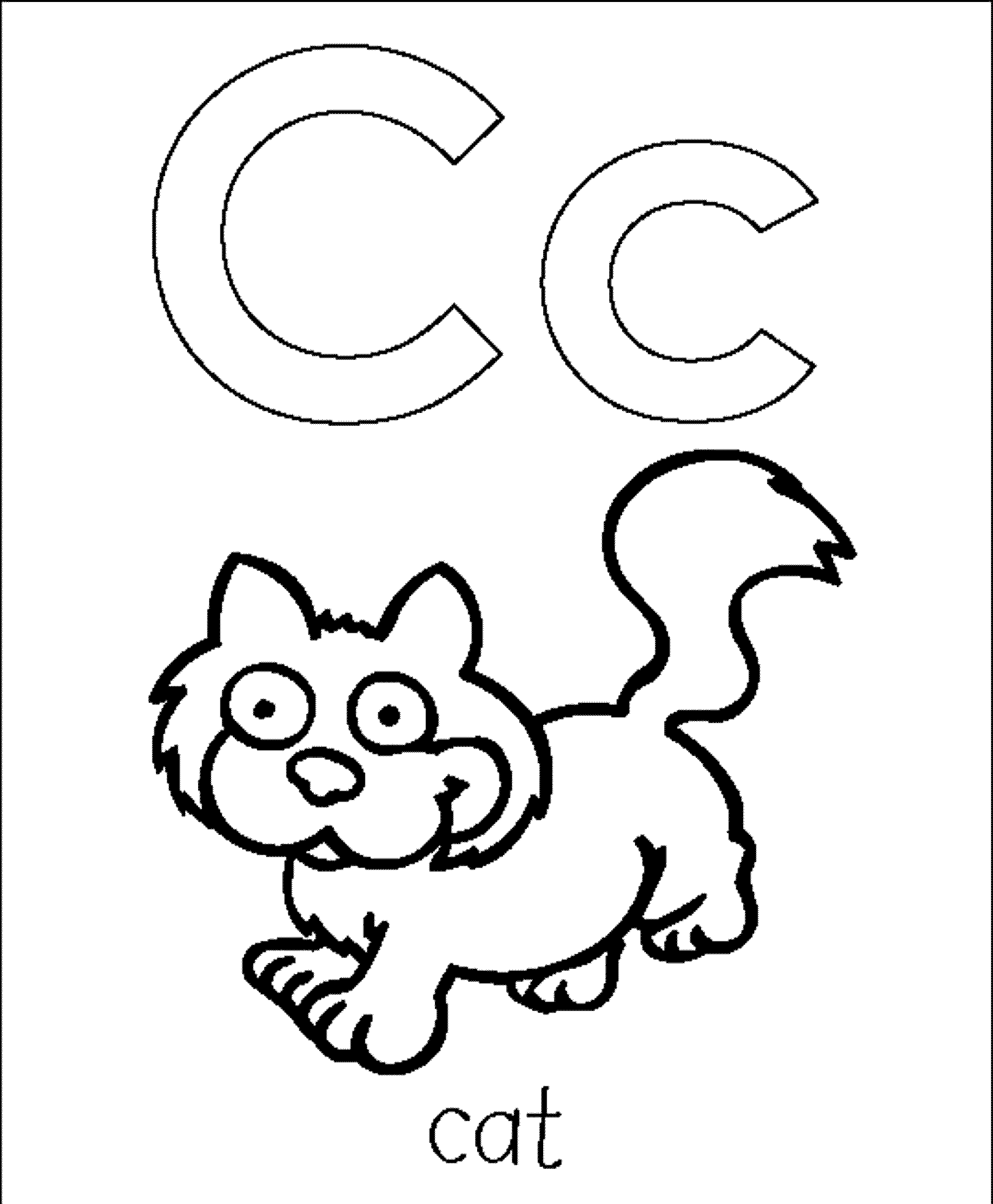 c coloring pages - photo #29