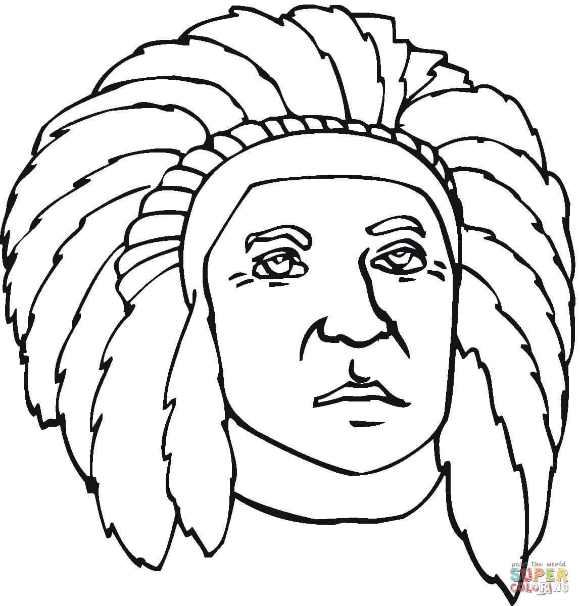 First Nation Indian Coloring Page | Free Printable Coloring Pages ...