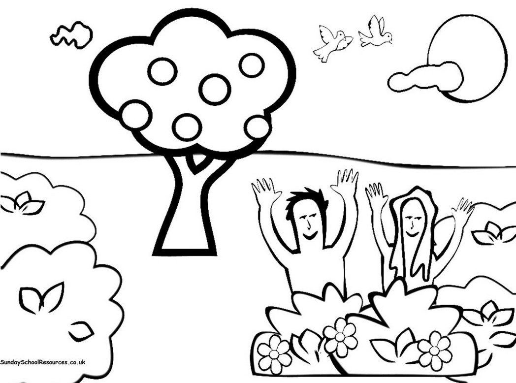 coloring pages creation story - photo#28